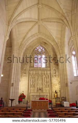 Church cathedral and alter - stock photo