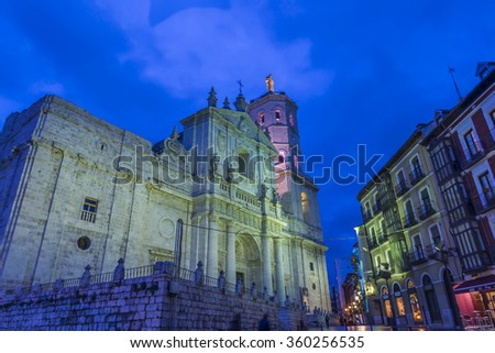 Church cathedral of Valladolid of style Herreriano, Spain