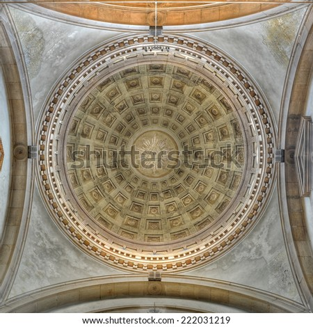 Church dome interior. - stock photo
