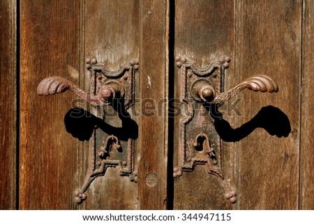 Church door handle - stock photo