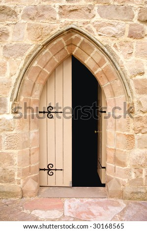 Open church door clipart - Open Church Door Clipart Church Doors Half Opened With