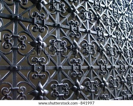 Church gate 1 - stock photo