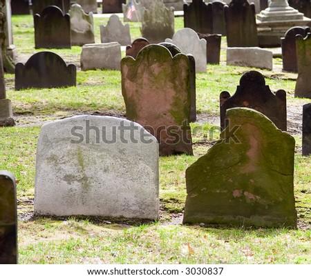 Church Grave Yard in New York City - stock photo