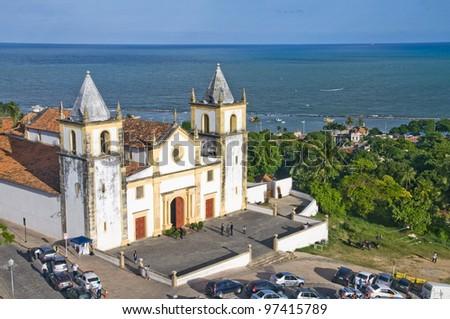 Church Igreja da Sé - Olinda - Pernambuco - Brazil - stock photo