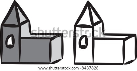 Church illustration - stock photo