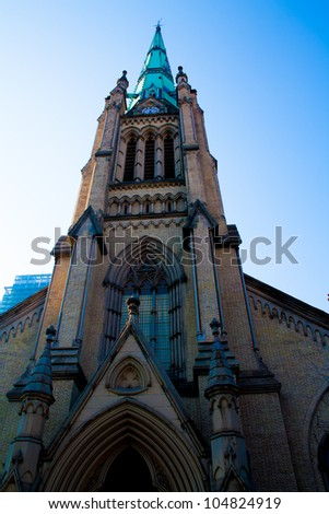 Church in Downtown Toronto - stock photo