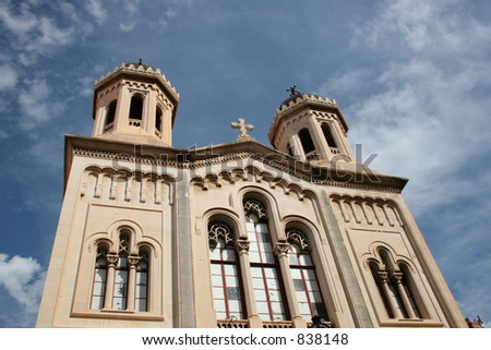 Church in Dubrovnik, Croatia. - stock photo