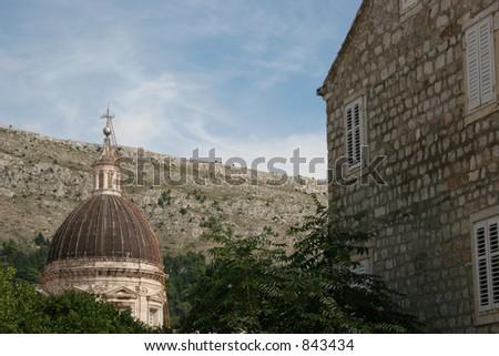 Church in Dubrovnik, Croatia. - stock photo