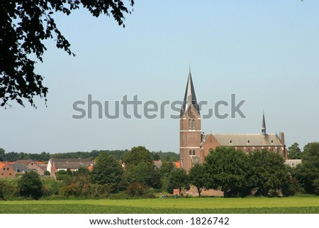 Church in Holland - stock photo