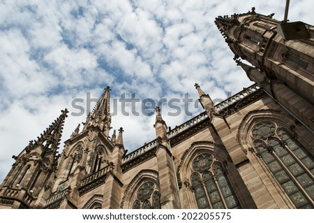 church in Mulhouse - France - stock photo