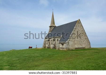 Church in Normandy III - stock photo