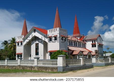 Church in Nukualofa, Tonga - stock photo