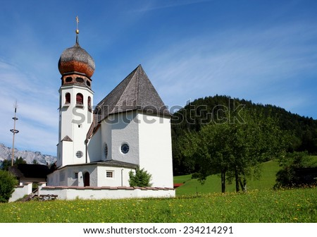 church in Oberau - Berchtesgaden, Germany - stock photo