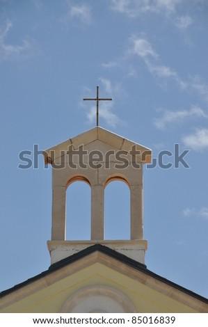Church in Povljana, Croatia - stock photo