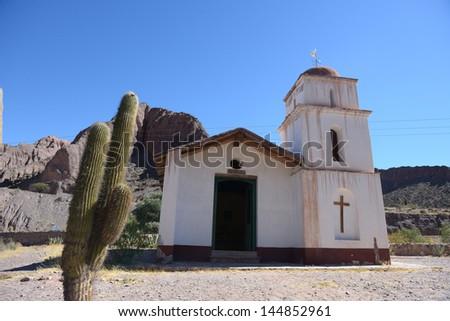 Church in Provincia de Jujuy in Argetina - stock photo