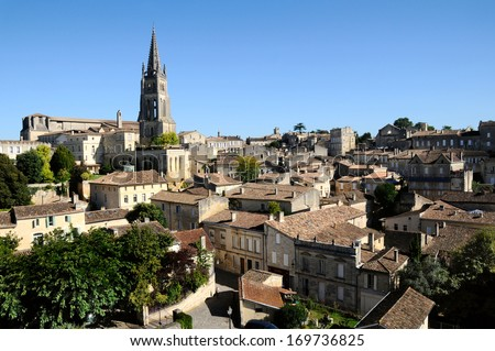 Church in Saint-Emilion - stock photo