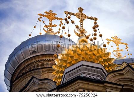 Church in Saint-Petersburg - stock photo