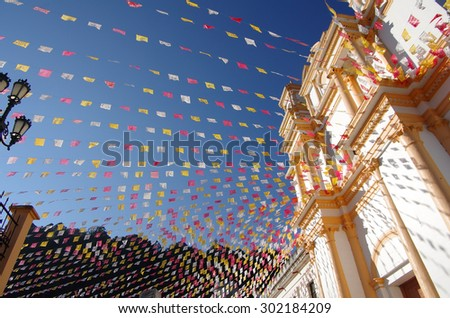 Church in San Cristobal de las Casas, Chiapas, Mexico - stock photo