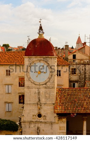 Church in the Historic City of Trogir, Croatia. UNESCO WOrld Heritage Site - stock photo