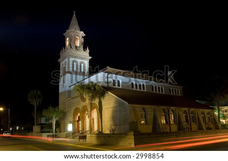 Church in the oldest european settlement in USA - St. Augustine, Florida