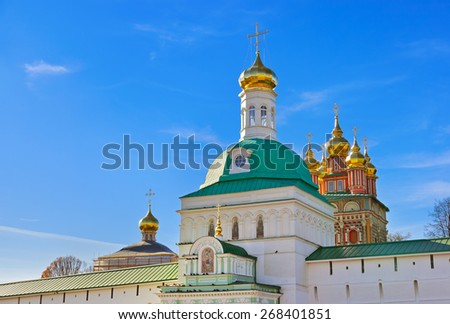 Church in the Trinity Sergius Lavra in Sergiev Posad - Russia - stock photo