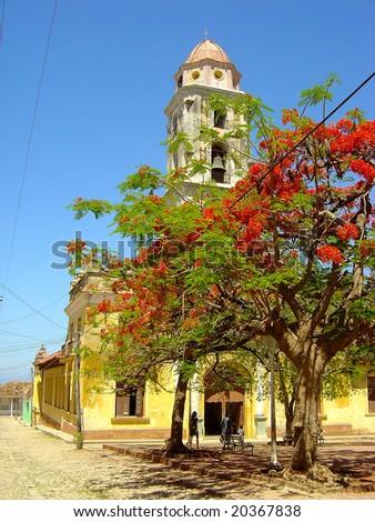 Church in Trinidad, Cuba - stock photo