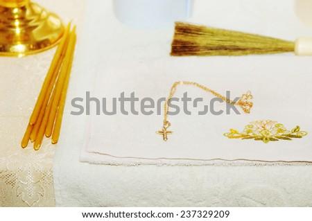 Church  interior detail - stock photo