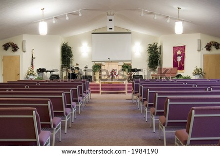 Church Interior - Horizontal (also have vertical in my gallery) - stock photo