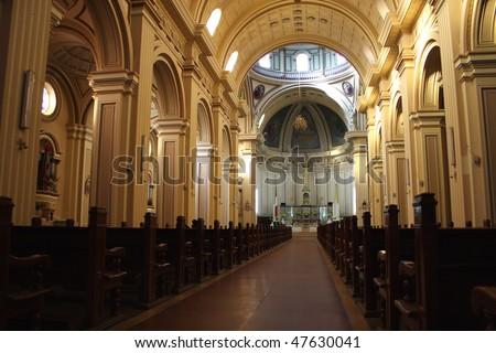 Church interior; Huancayo; Peru - stock photo