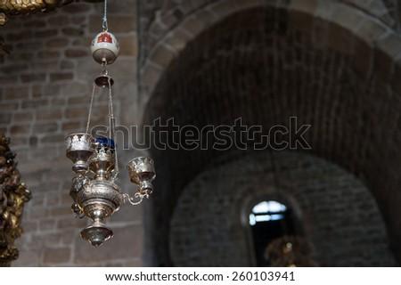 church interior religion holy old - stock photo