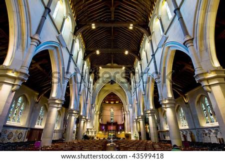 CHURCH INTERIORS - stock photo