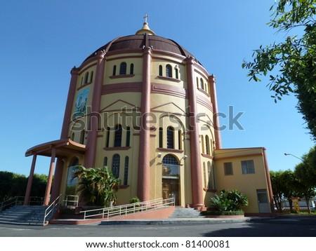 Church, Nossa Senhora da Fatima, Manaus - Amazonas, Brazil - stock photo