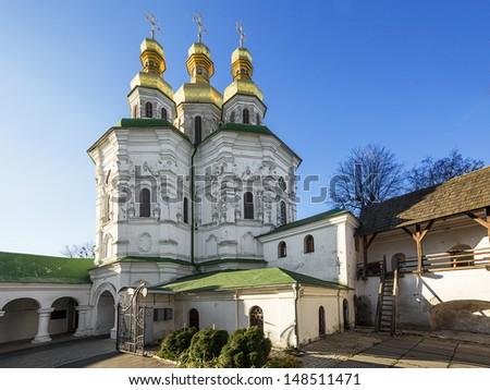 Church of All the Saints. 1696-1698. National Kiev-Pechersk historical and cultural preserve. Kiev. Ukraine. - stock photo