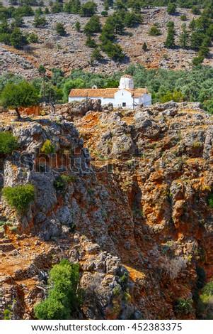 Church of Archangel Michael over Aradena George in Aradena, Crete - stock photo