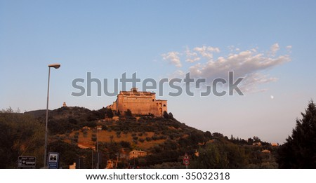church of assisi - stock photo