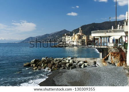 church of Camogli in Liguria
