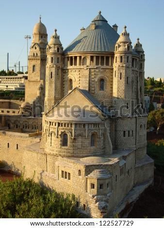 Church of Dormitory - Jerusalem at miniature - stock photo