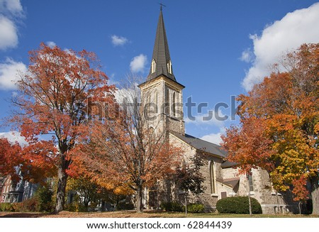Church of Gananoque Village, Canada - stock photo