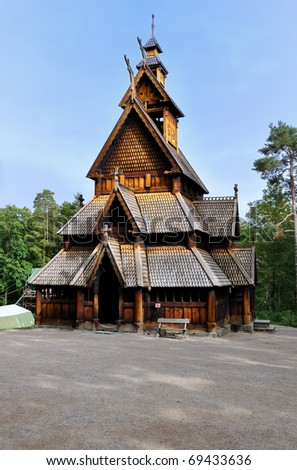 Church of Gol in Oslo, Norway. - stock photo