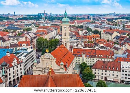 Church of holy spirit in Munich, Bayern, Germany - stock photo