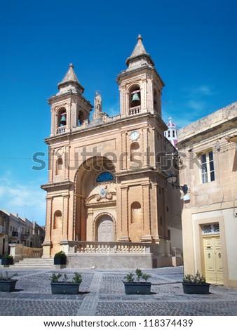 Church of Marsaxlokk, Malta - stock photo