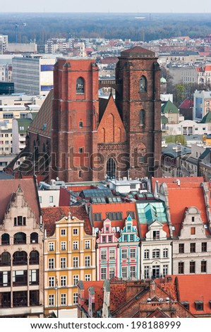 Church of Mary Magdalene in Wroclaw, Poland - stock photo