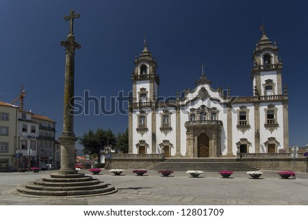 Church of Misericordia in Viseu, Portugal - stock photo