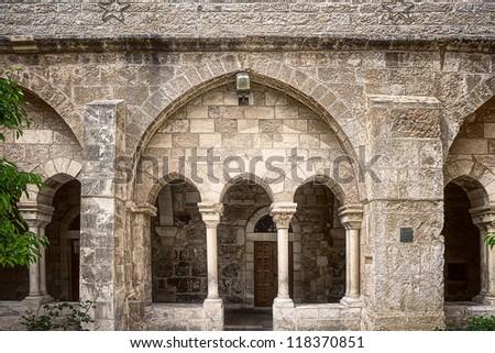 Church of Nativity in Bethlehem - stock photo