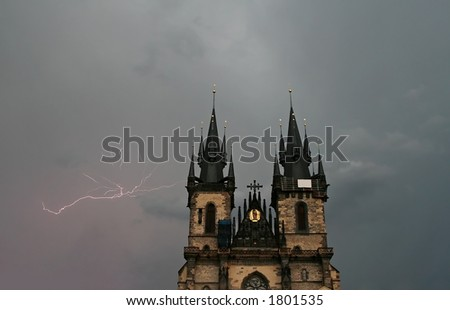 Church of Our Lady Before Tyn at Prague, Czech - stock photo