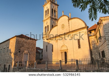Church of Our Lady of Good Health in Jelsa on the island of Hvar in Croatia.