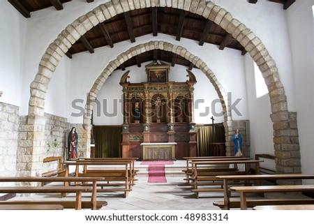 Church of S. Croce (sec. XVIII),  Aggius, North Sardinia, Italy - stock photo