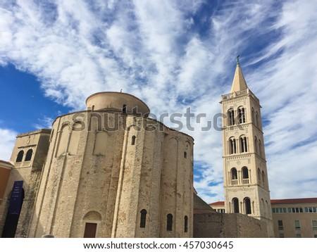 Church of Saint Donat in Zadar, Croatia. Adriatic region of Dalmatia - stock photo