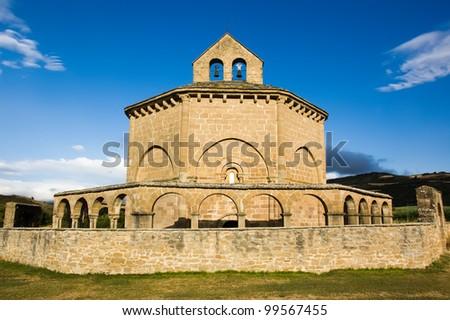 Church of Saint Mary of Eunate (Ermita de Santa Maria de Eunate) - stock photo