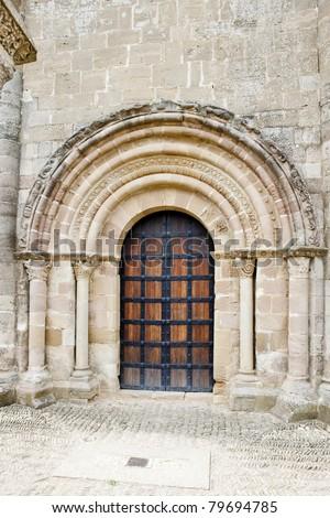 Church of Saint Mary of Eunate, Road to Santiago de Compostela, Navarre, Spain - stock photo